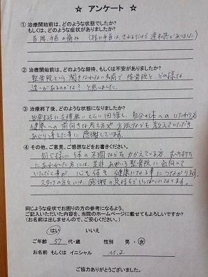 50代 女性 前橋市 M.I.様